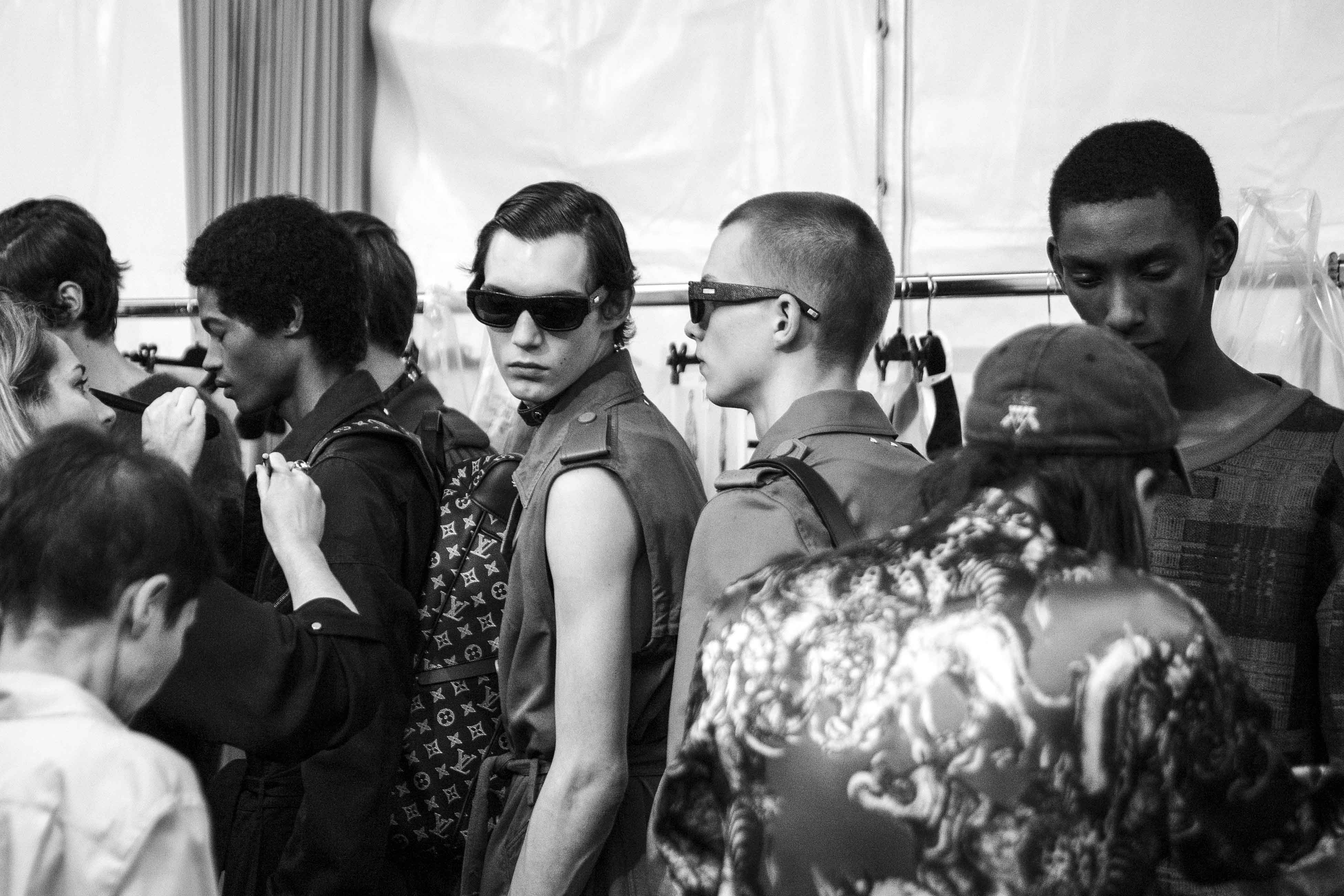 Backstage: Louis Vuitton spring-summer 2017 fashion show for men