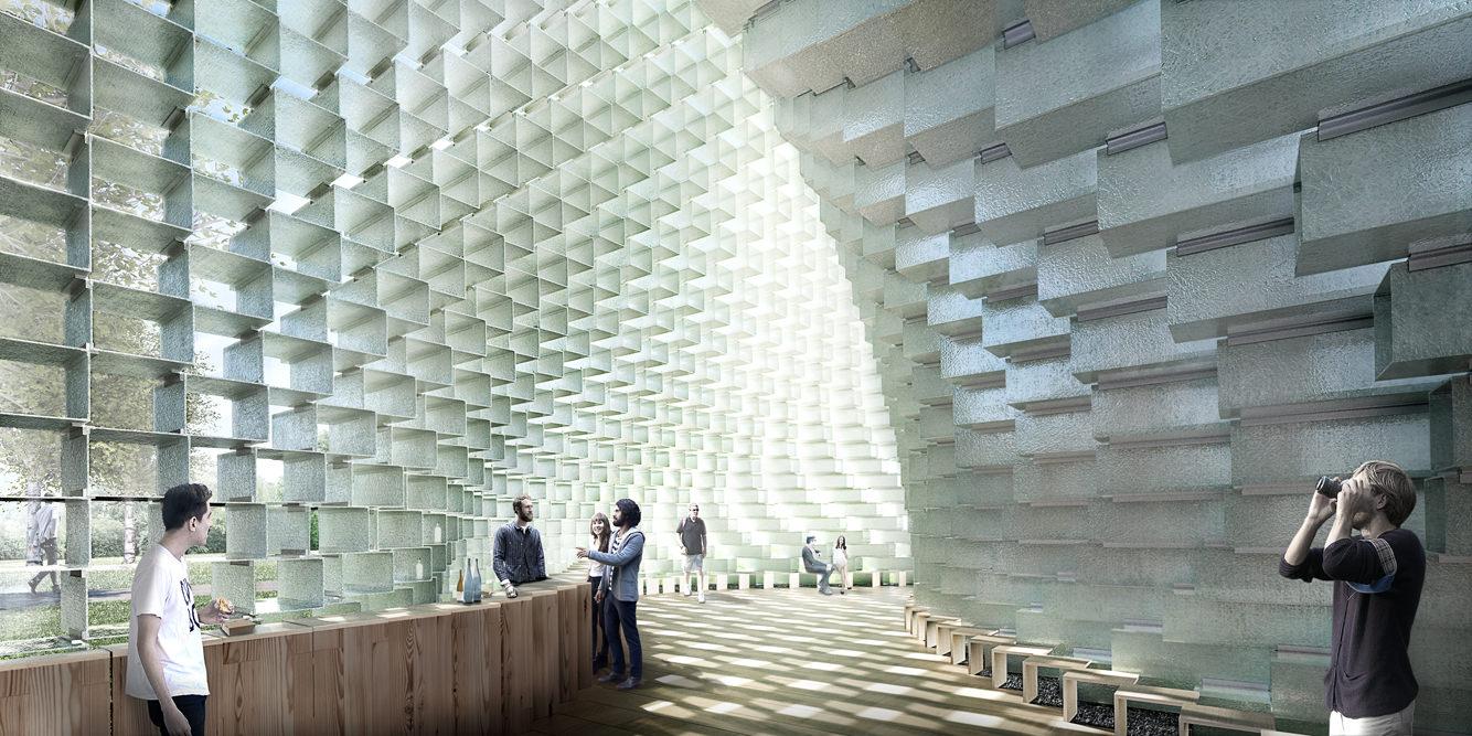 Le pavillon Serpentine 2016, par le Bjarke Ingels Group (BIG).