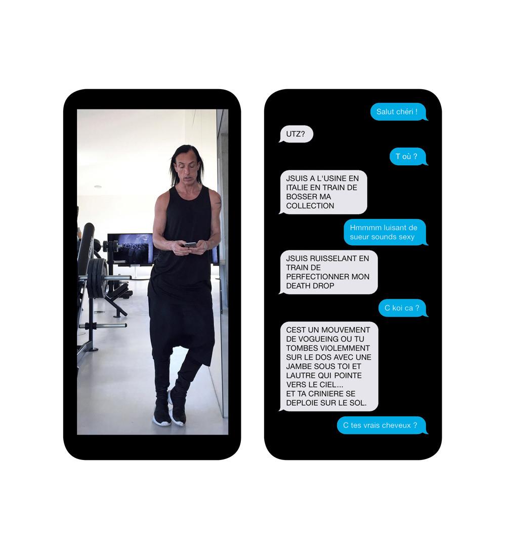 Numéro masqué: SMS hautement confidentiels avec Rick Owens