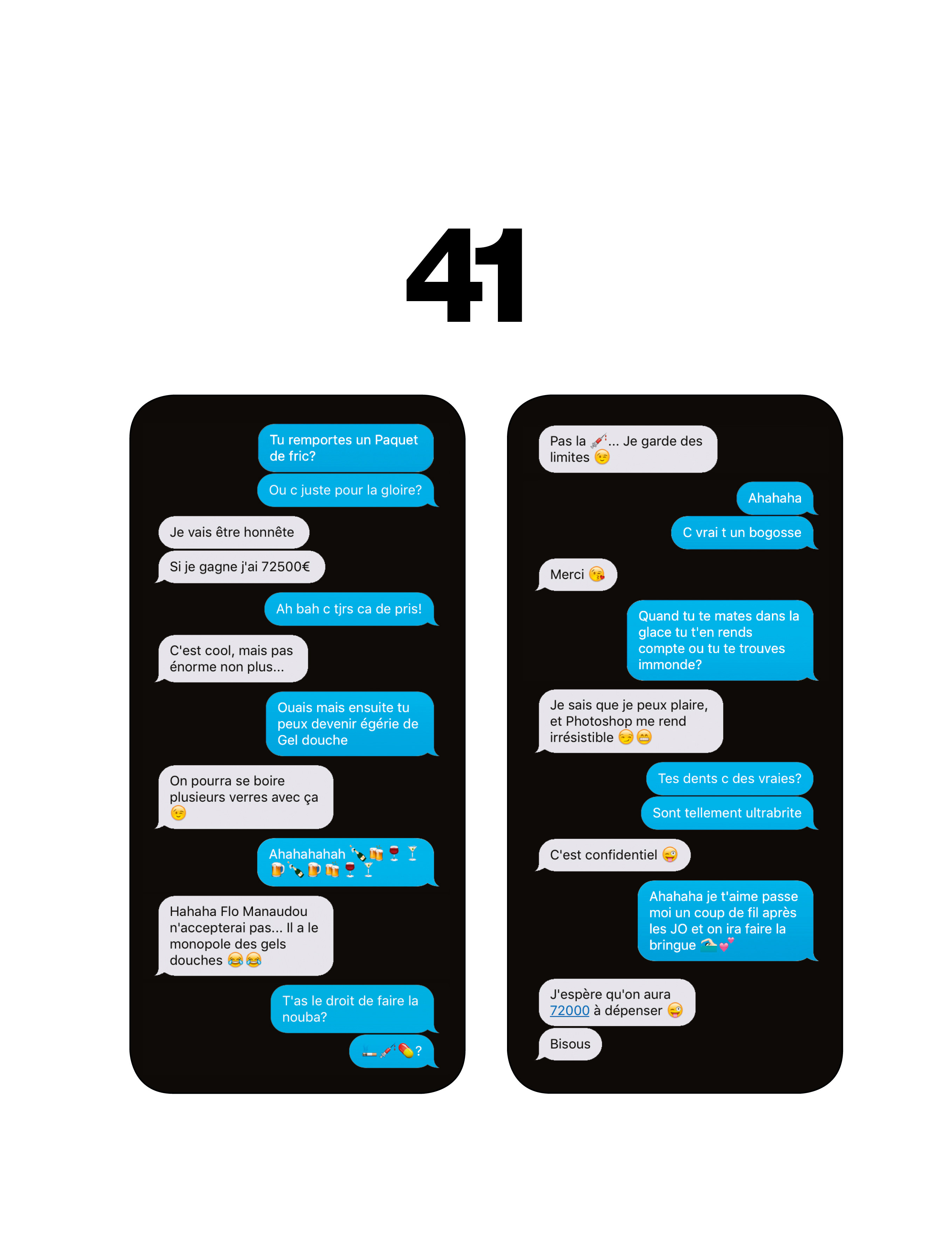Numéro masqué: SMS hautement confidentiels avec le champion de natation Camille Lacourt