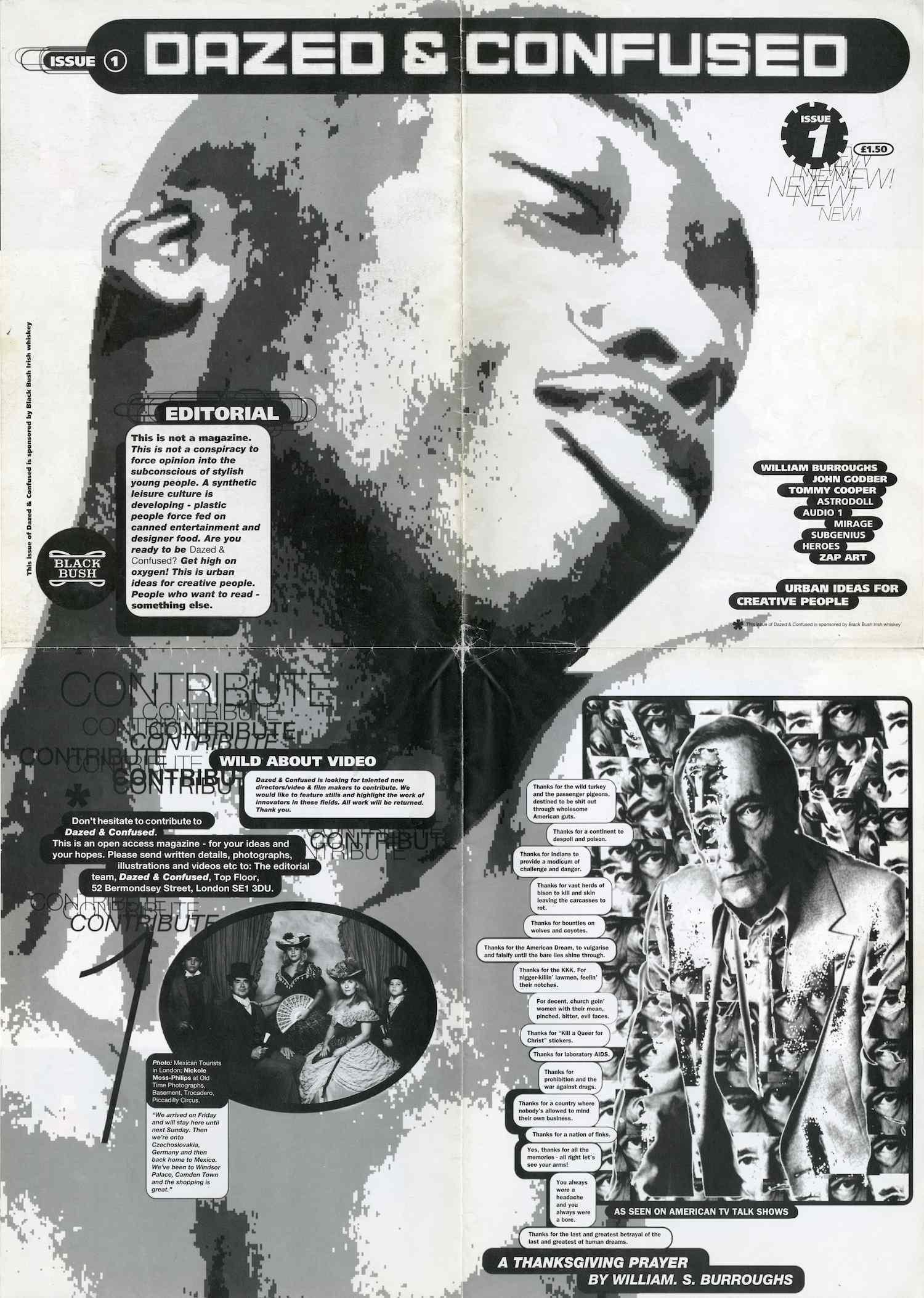 Première couverture du magazine Dazed & Confused.  1. LE CRÉATEUR DU MAGAZINE CULTE DAZED & CONFUSED  Jefferson Hack a cofondé avec le photographe Rankin le magazine Dazed & Confuseden 1991 comme une célébration de la youth culture, la culture des jeunes. Le premier numéro était distribué sous forme de poster que l'on pouvait accrocher à son mur après l'avoir lu. Dazed & Confusedétait en fait l'extension d'un magazine étudiant lancé par les deux complices, qui avait été primé par les Student Media Awards du grand quotidien anglais The Guardian. Outre-Manche, les magazines i-Det The Faceavaient déjà immortalisé les cultures jeunes underground britanniques des années 80 et 90, et accompagné la gentrification des rebelles, au fil du développement considérable de l'industrie de la mode. Dazed & Confusedpoursuit ce mouvement en livrant une radiographie des aspirations contradictoires de la jeunesse contemporaine, ultra politisée et consciente, mais aussi avide de consommation.