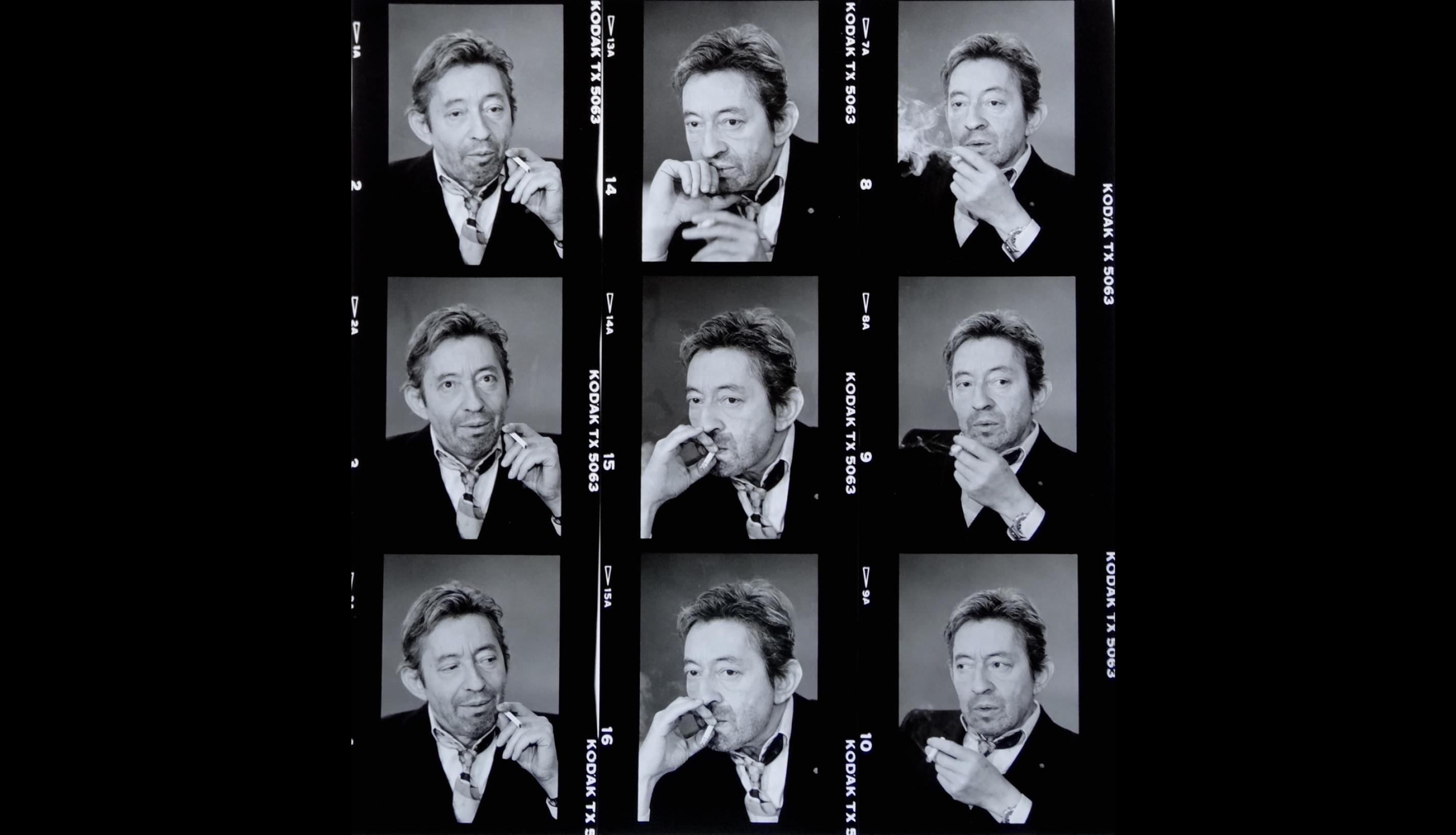 9 fois Gainsbourg(1989),deMichel Giniès.  GainsbourgToujours25 ans  Gainbourg qui écrit, Gainsbourg pianotant, Gainsbourg qui sourit, Serge et Jane, Nana et Serge, Gainsbourg heureux, Gainsbarre bourré, Gainsbourg qui pisse, Gainsbourg qui pleure, Gainsbourg nu, dessiné, chantant, fatigué, élégant, qui fume, en smoking, décoiffé, maquillé, beau, laid, admirable, magistral, humble, pédant, seigneurial, populaire, grand, sublime…Gainsbourg, toujours. Quinze photographes et deuxplasticiens se sont réunis dans le Carré Rive Gauche et présentent plus de 60 œuvres pour honorer Serge Gainsbourg, 25 ans après sa disparition. Tirages, peintures, collages et dessins sont exposés à la Galerie Hegoa, mais aussi dans trois autres lieux du Carré Rive Gauche dans une démarche de partage, de restitutionet de transmission.  GainsbourgToujours25 ans, jusqu'au 8 avril, Galerie Hegoa,16, rue de Beaune, Paris VIIe, Le Bistrot de Paris : 33, rue de Lille,Paris VIIe, Hôtel de Lille : 40, rue de Lille,Paris VIIe, WineSitting : 27, Rue de Beaune,Paris VIIe, Seine Intérieur : 40, rue de Verneuil,Paris VIIe.