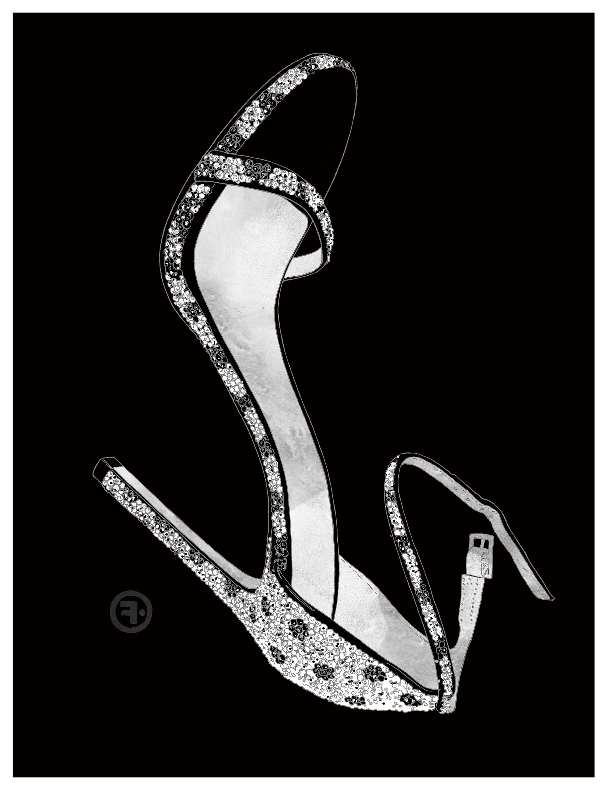 """Illustration Francois Berthoud  A few years back his $500,000 sandals, the Diamond Dream, hit the headlines. """"We wanted the Oscars to be a global showcase for our shoes, and I think we can safely it say it was"""", Stuart Weitzman rightly congratulates himself. On the feet of actress Anika Noni Rose at the 2007 ceremony, the stiletto heels encrusted with real diamonds were caught on camera by the world's media and passions were unleashed… Suddenly even the youngest fashion bloggers had heard of the brand Stuart Weitzman, who over the years has become the go-to shoe man known for combining two very American values: glamour and functionality. For the first value a cohort of stars compete on Hollywood red carpets shod in the ultra-light Nudist sandal that so sensually reveals the foot - Blake Lively, Jennifer Lopez, Lady Gaga and even Gigi Hadid. For the second this architect of shoe design guarantees optimal comfort even on 12cm stiletto heels: """"I want women to smile when they wear my shoes,"""" Stuart Weitzman explains.  The New Yorker, both a seasoned designer and businessman, has relied on solid experience and reflection: more than a simple craft, the shoe and its sinuous curves have always been part of Stuart Weitzman's life; his father owned a factory in Massachusetts. As a young man he chose business studies without ever dreaming of joining the family business…but he did sell shoe designs for pocket money. """"The business took me by surprise, because my talent got noticed and rewarded,"""" he says today, """"But it took several years of experience to fine hone my objectives."""" The pioneering Stuart Weitzman launched his brand in 1986 based on a crucial factor: having his own factories. """"That allowed me the greatest of freedom and the utmost control, not only when it came to making my designs quickly and according to my own criteria, but also being able to adapt to the needs of the clients."""" And thus the Alex and Corkswoon platforms, the 5050, Lowland and Highland boots saw the"""