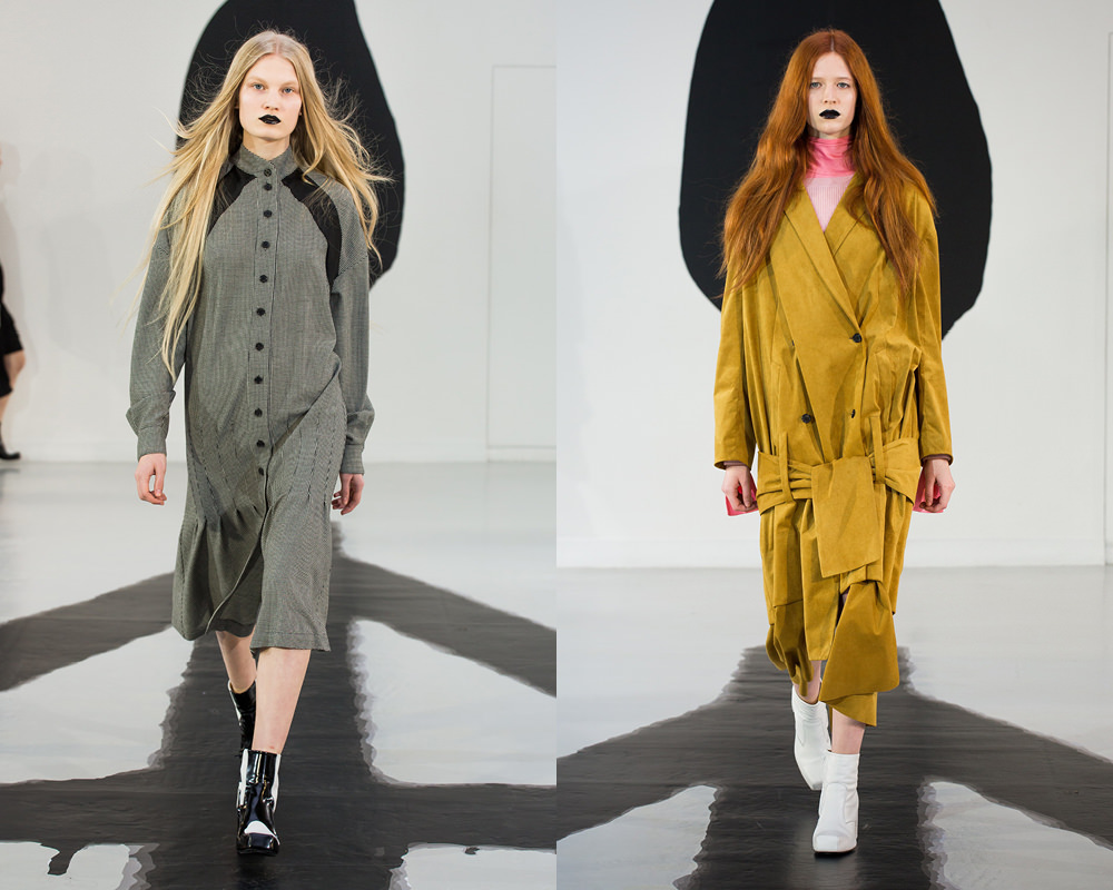 """What's the story behind the fall-winter 2016/17 collection entitled """"Hellsinki"""" that you're presenting for the LVMH prize? With """"Hellsinki"""" I wanted to talk about the young Sami, an indigenous people of Lapland, who for some time now are being forced to become urbanised. The concept of the collection is very rich because the Sami are building a new identity that combines urban life with their ancestral customs. My take is never political, I just observe and re-transcribe. But today with the question of immigration being so ripe, the notions of uprooting and adapting are becoming pretty general."""