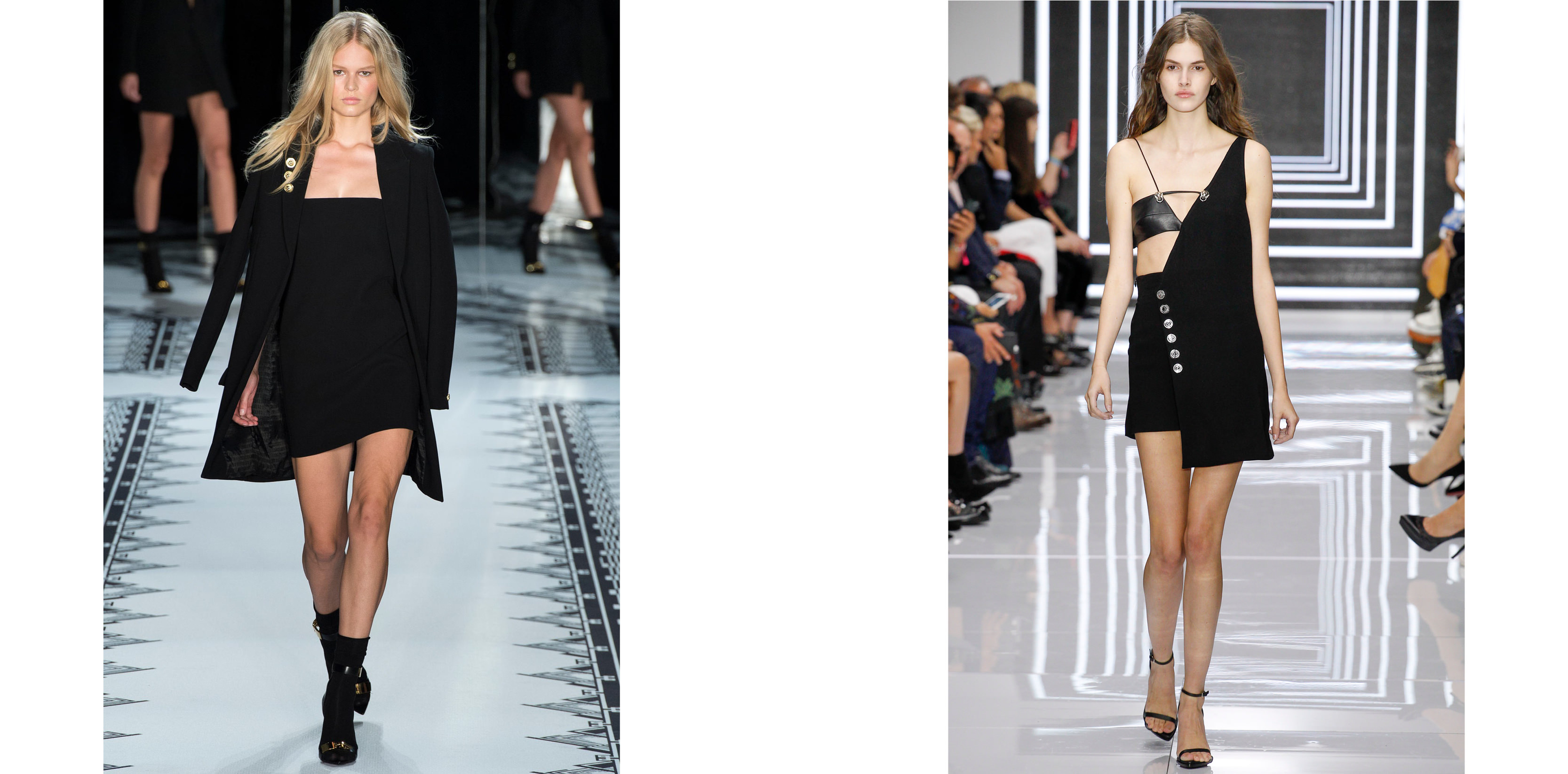 Left: Anna Ewers for Versus Versace fall-winter 2015-2016 Right: Vanessa Moody for Versus Versace spring-summer 2016   Anthony Vaccarello for Versus:   When, in January 2015, he was appointed head of design at Versus, the house of Versace's little sister, Anthony Vaccarello joined the fabulous Italian house and found in Donatella Versace his perfect godmother, bringing his teenage dream to life. Re-injecting the legendary fun back into the line by giving it his sense of geometry and line, Anthony Vaccarello delivered four extremely successful collections.  Putting his hand to the prints and having fun with the antique symbols that make up the Versace vocabulary, he created clothes that were both desirable and easy to wear.   Anthony Vaccarello at Yves Saint Laurent:  A few seasons under the leadership of Hedi Slimane was enough to impose the spirit of black and rock as the new codes at Yves Saint Laurent. Anthony Vaccarello's passion for dark colours and sexy looks certainly won't displease the clientele that swarm the boutiques like a temple. At Versus, the Italo-Belgian designer showed his capacity to build complete wardrobes in a more commercial spirit than with his own brand name. Ultimately he also proved he could turn his hand to menswear. So here he is at Yves Saint Laurent, aged 33, with the doors of glory flung wide open.      Check out Anthony Vaccarello's exclusive playlist for Numéro.     By Delphine Roche