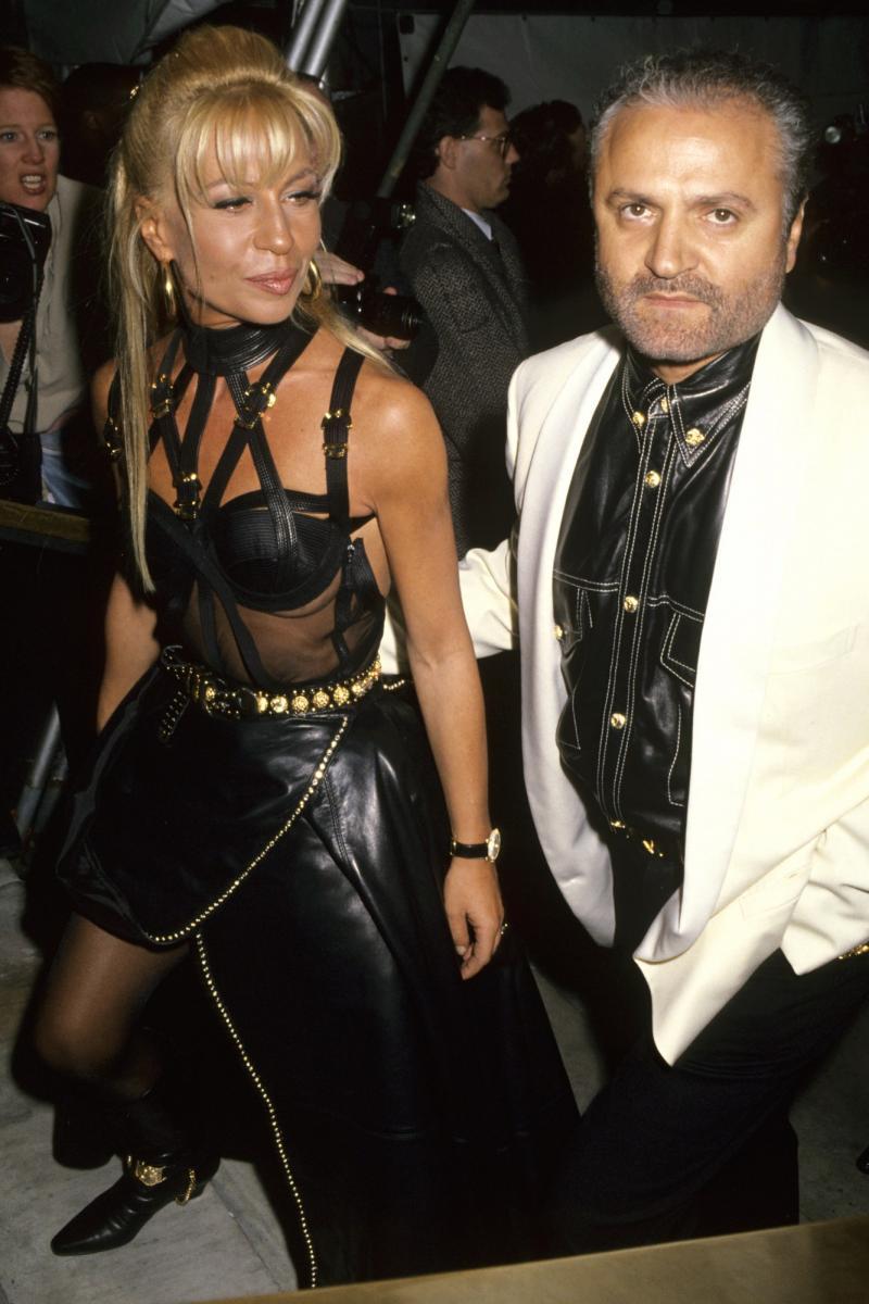 Donatella et Gianni Versace