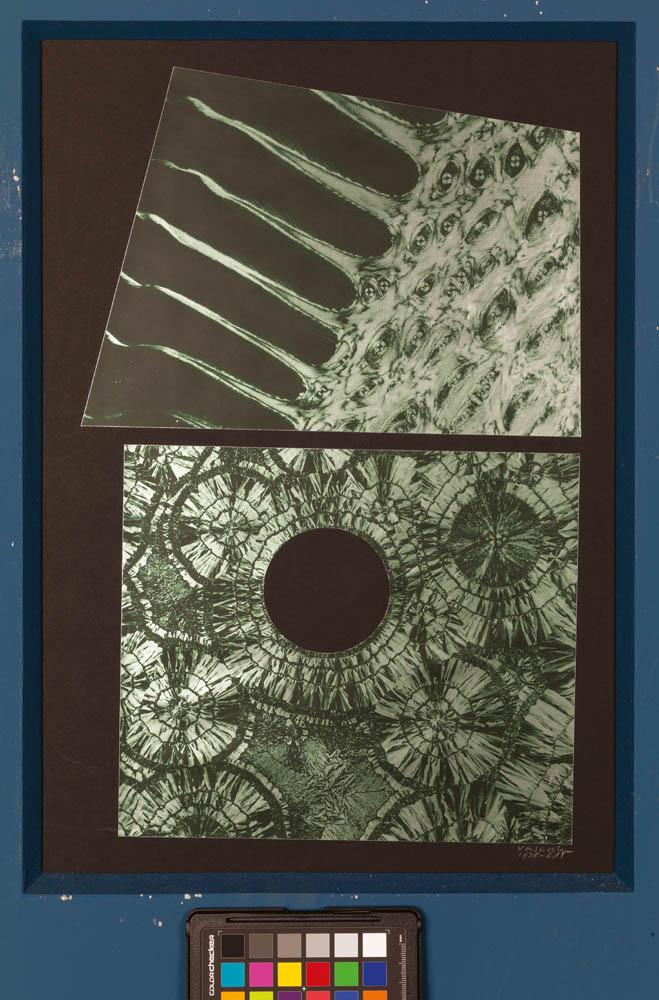 Dauvillier, 1938-1945*, collage de photographies sur carton, 45 x 30,8 cm Collection particulière, en dépôt à la Fondation Vasarely, Aix-en-Provence, photo © Centre Pompidou / Philippe Migeat © Adagp, Paris, 2018
