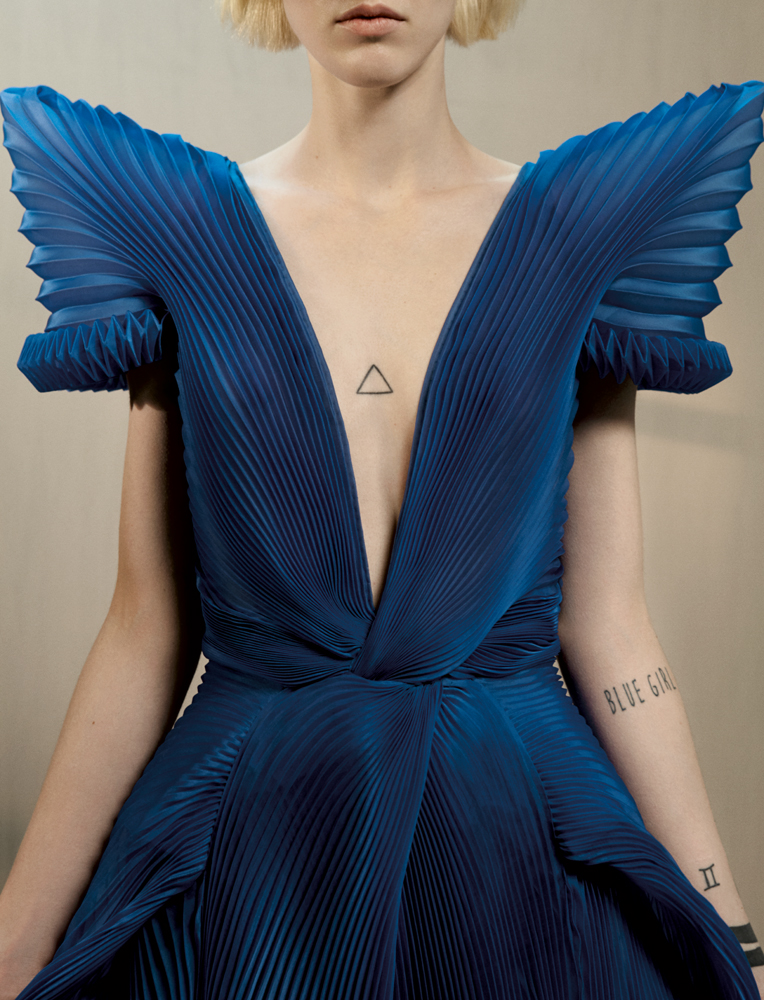 "Dress ""Le Grand Bleu"", GAULTIER PARIS."