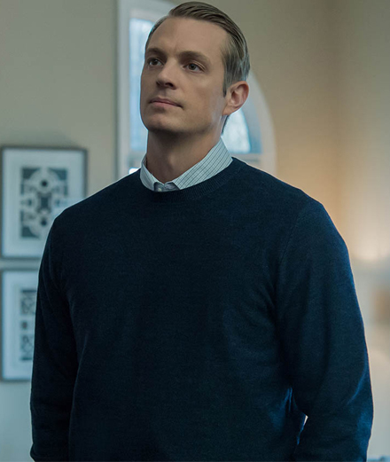 "Joel Kinnaman incarne le personnage principal dans la série ""Altered Carbon"". Photographie issue de la saison 4 de House of cards."