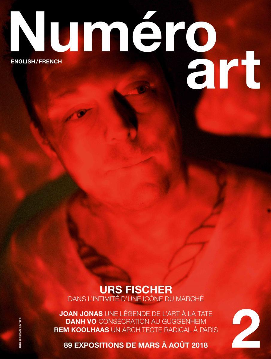 Urs Fischer en couverture du Numéro art #2 et photographié par Chad Moore.