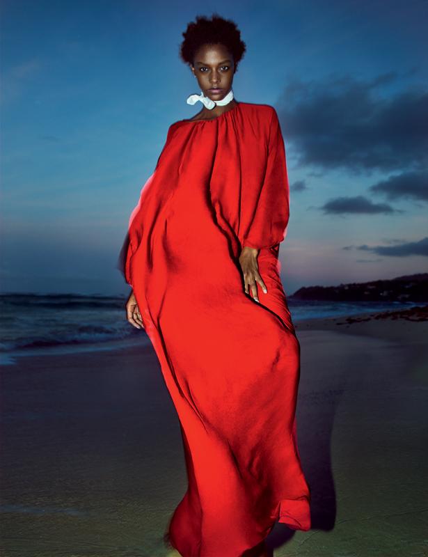 Robe en soie lavée, THE ROW.