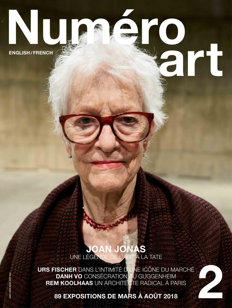 Joan Jonas en couverture de Numéro art #2 et photogaphiée par Juergen Teller.