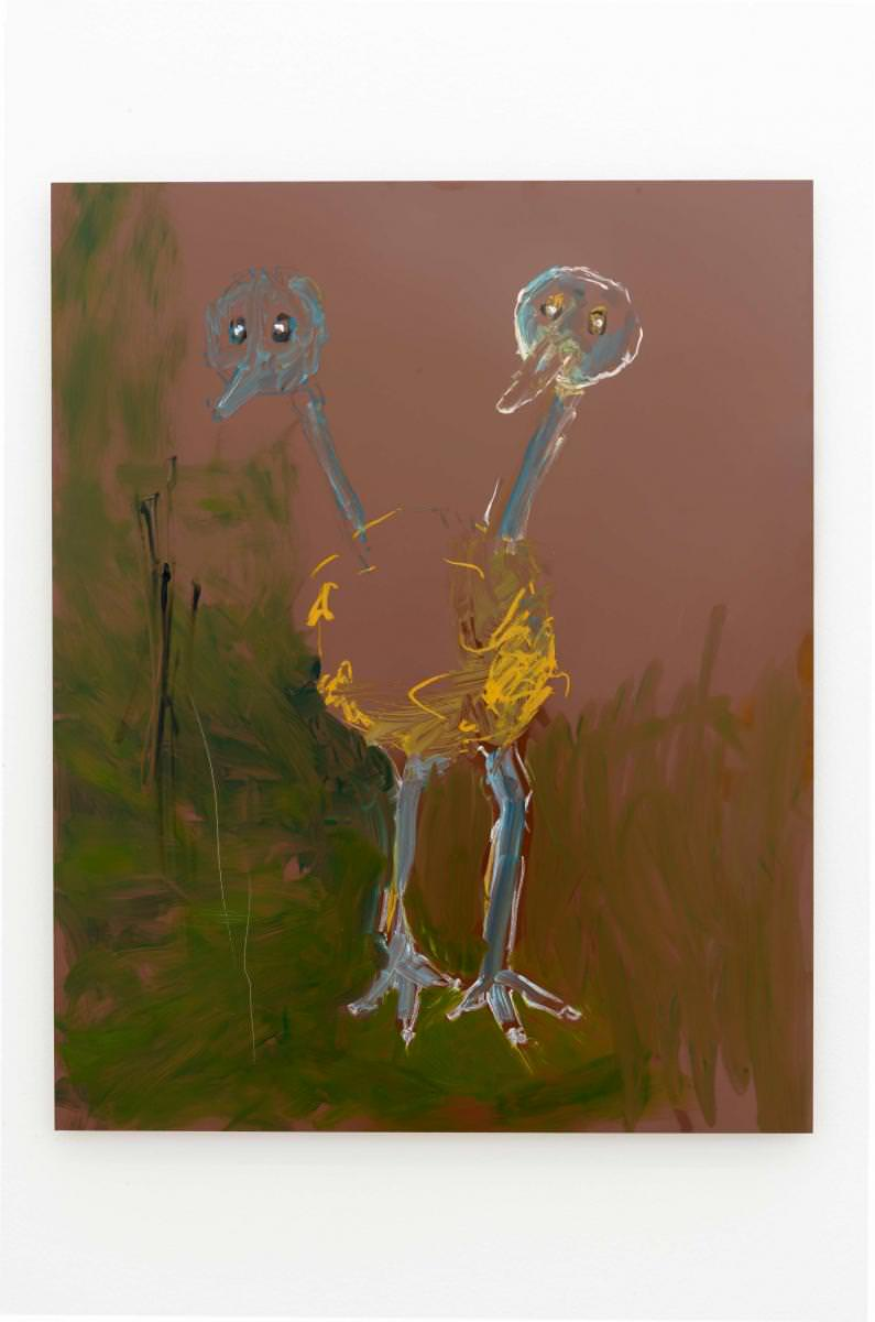 Reena Spaulings,Doduo(2016).Peinture à l'huile sur Dibond.100 x 81 cm. Courtesy of the artist and Galerie Chantal Crousel, Paris Photo: Florian Kleinefenn