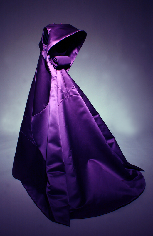 "Chado Ralph Rucci, Tabernacle Infanta evening gown, fall 2003, USA, gift of Chado Ralph Rucci. 2005.2.1. Featured in ""American Beauty"" (2009)."