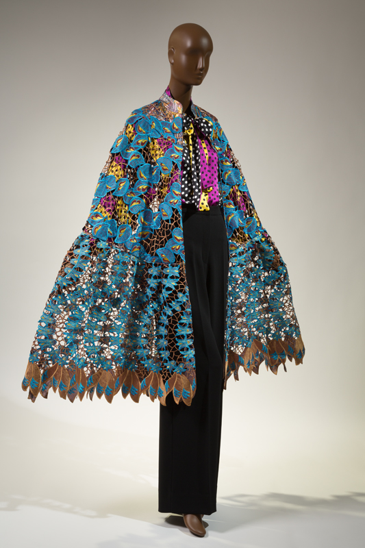 "Duro Olowu, ensemble, fall 2012, England, gift of Duro Olowu. 2016.65.1. Featured in ""Black Fashion Designers"" (2016)."