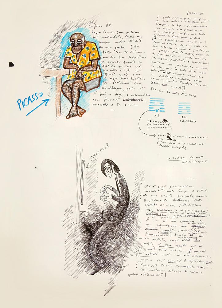 Federico Fellini,Le livre de mes rêves,volume I,© Comune di Rimini Cineteca - Archivo Federico Fellini.