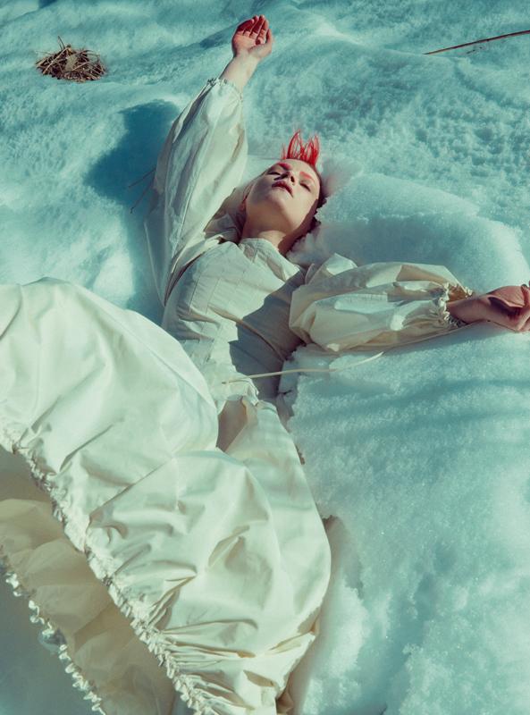 Robe ballon en polyester et coton, LOEWE.