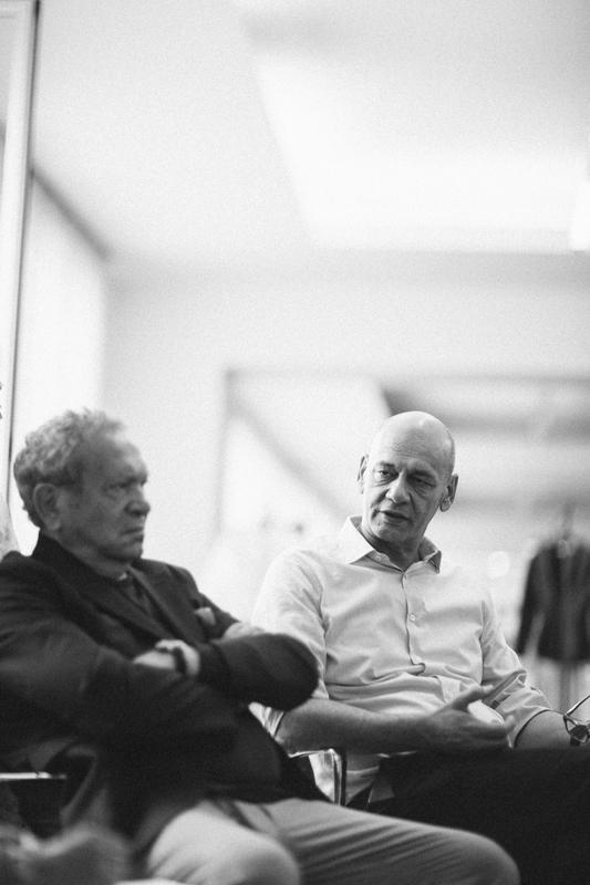 Le créateur Ermanno et l'homme d'affaires Toni Scervino, fondateurs du label Ermanno Scervino, photographiés par Virgil Guinard