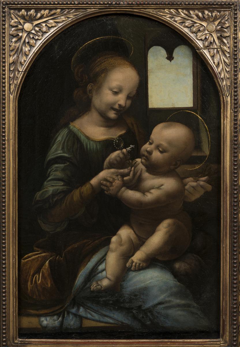 LaMadone Benois(1478) de Léonard de Vinci © The State Hermitage Museum, St Petersburg