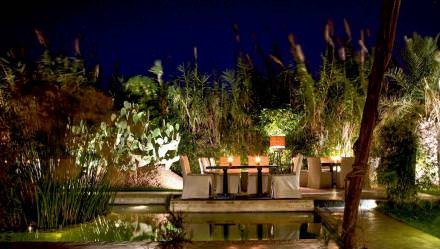 11.30pm Drink with a View  An enchanting setting with excellent music, at Bô&Zin the ambiance is sexy laidback Ibiza. During the weekends anyone who is anyone in Marrakesh can be found lounging on the veranda overlooking an exotic garden.  Bô&Zin, route de l'Ourika
