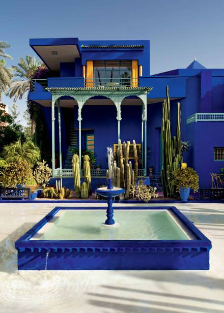 1.30pm Bucolic pause   Deep in the ravishing Jardin Majorelle, Yves Saint Laurent and Pierre Bergé's fiefdom, the Bousafsaf café is one of those timeless bolt holes worth escaping to where you'll relish simple traditional dishes conjured from the freshest of produce.  www.jardinmajorelle.com