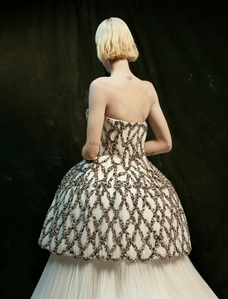Strapless dress, AUGUST GETTY ATELIER.