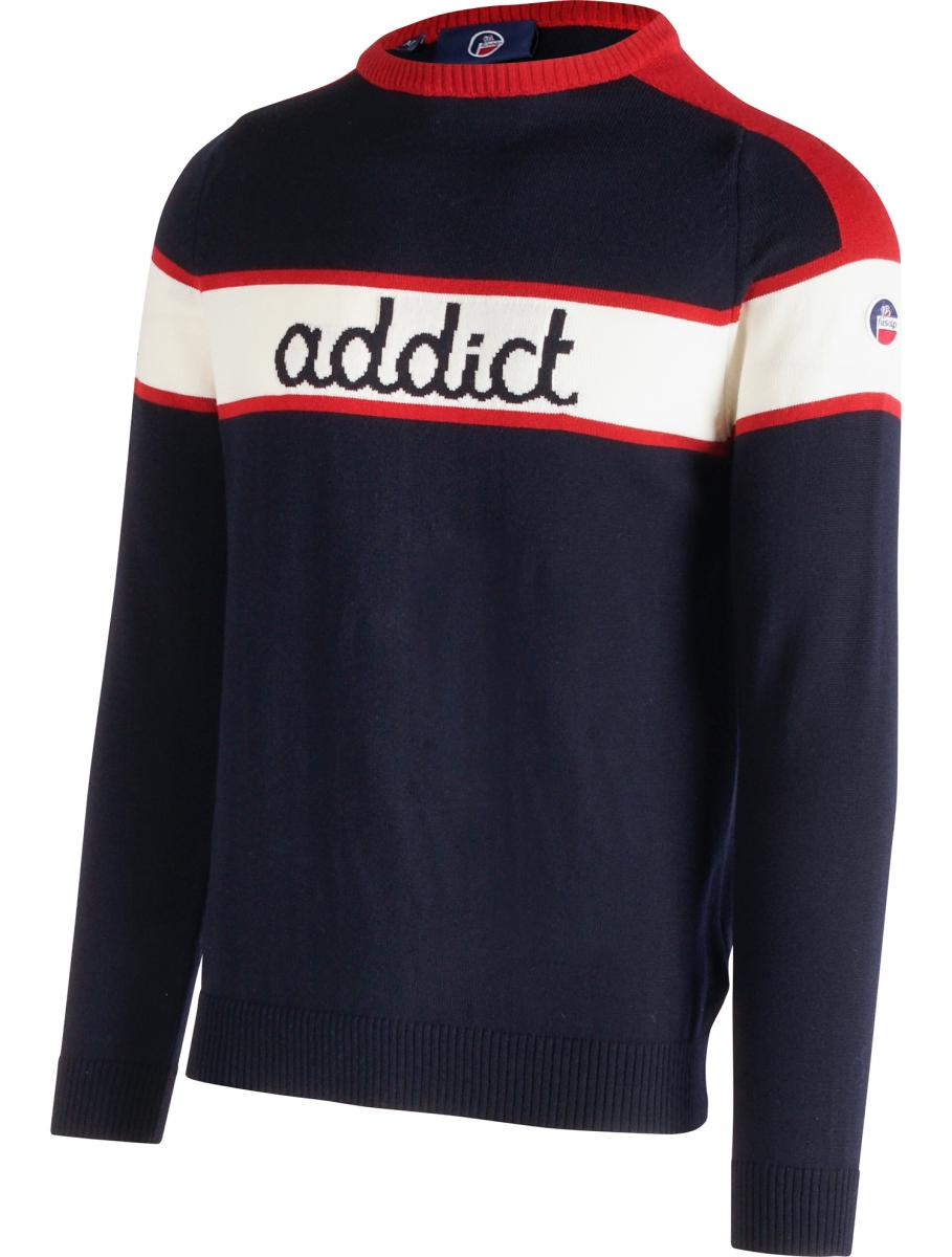 "Le pull ""addict"" issu de la collection Fusalp x The Woolmark Company"