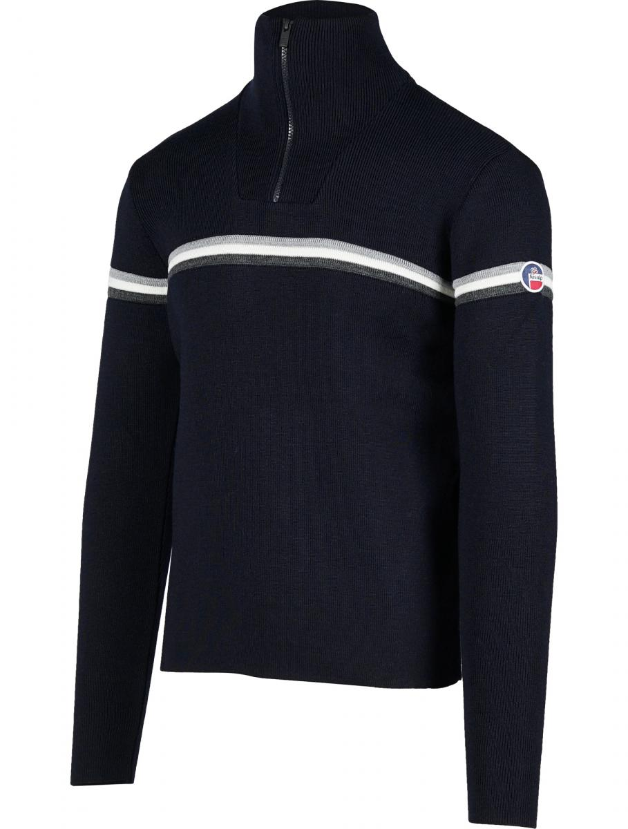 "Le pull ""wengen III"" issu de la collection Fusalp x The Woolmark Company"