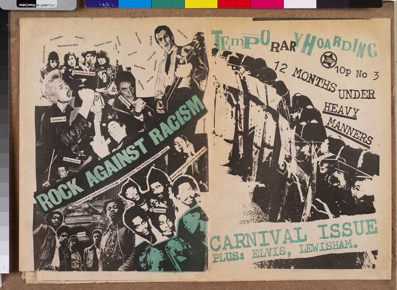 """""""Fanzine Temporary Hoarding"""" publié à l'occasion du festival Rock Against Racism, Londres, 1978 © Collection particulière - Photo © Bertrand Huet / Tuttimisty"""