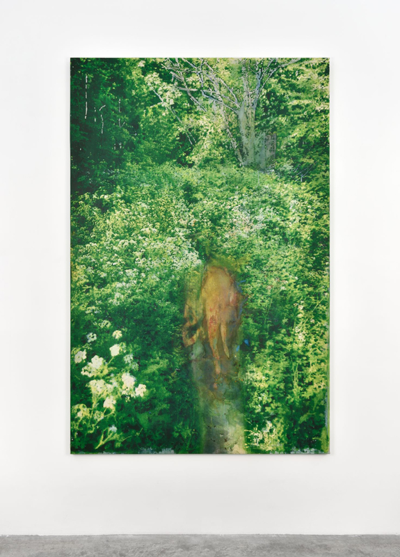 "Alexandre Lenoir, ""La source"" (2019). Acrylic and oil on canvas, 204x142cm"