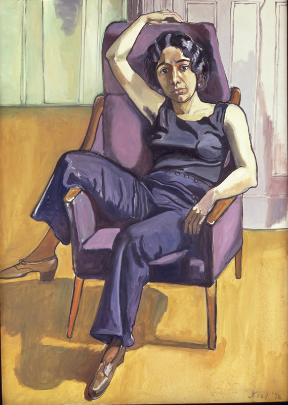 "Alice Neel, ""Marxist Girl (Irene Peslikas)"" (1972). Huile sur toile. 151,8 x 106,7 cm. Daryl and Steven Roth © The Estate of Alice Neel Courtesy The Estate of Alice Neel, and Victoria Miro, London/Venice"