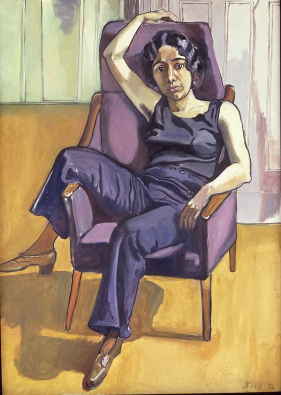 "Alice Neel, ""Marxist Girl (Irene Peslikas)"" (1972).Huile sur toile.151,8 x 106,7 cm.Daryl and Steven Roth© The Estate of Alice Neel Courtesy The Estate of Alice Neel, and Victoria Miro, London/Venice"