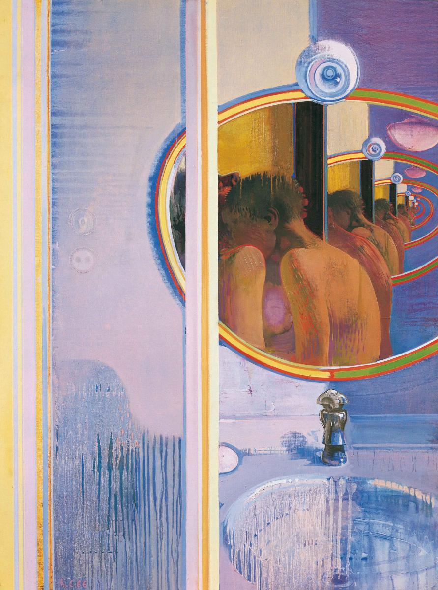 Alle spalle del desiderio, 1966, huile sur toile, 132 x 97 cm - Leonardo Cremonini