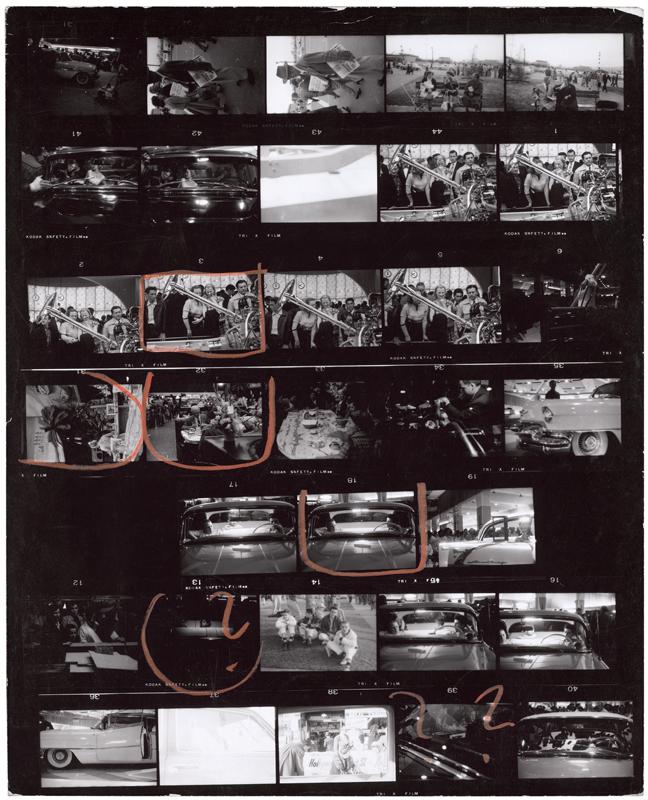 """Planches de Robert Frank extraites de l'ouvrage """"Les Américains"""".Courtesy Steidl"""