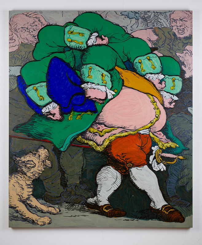 """Charlie Billingham, """"TBT"""" (2020).Oil on linen,190 x 160 cm"""