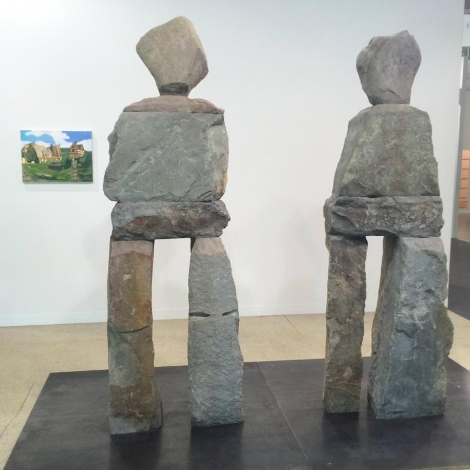 Ugo Rondinone sur le stand de la Galerie Eva Presenhuber.