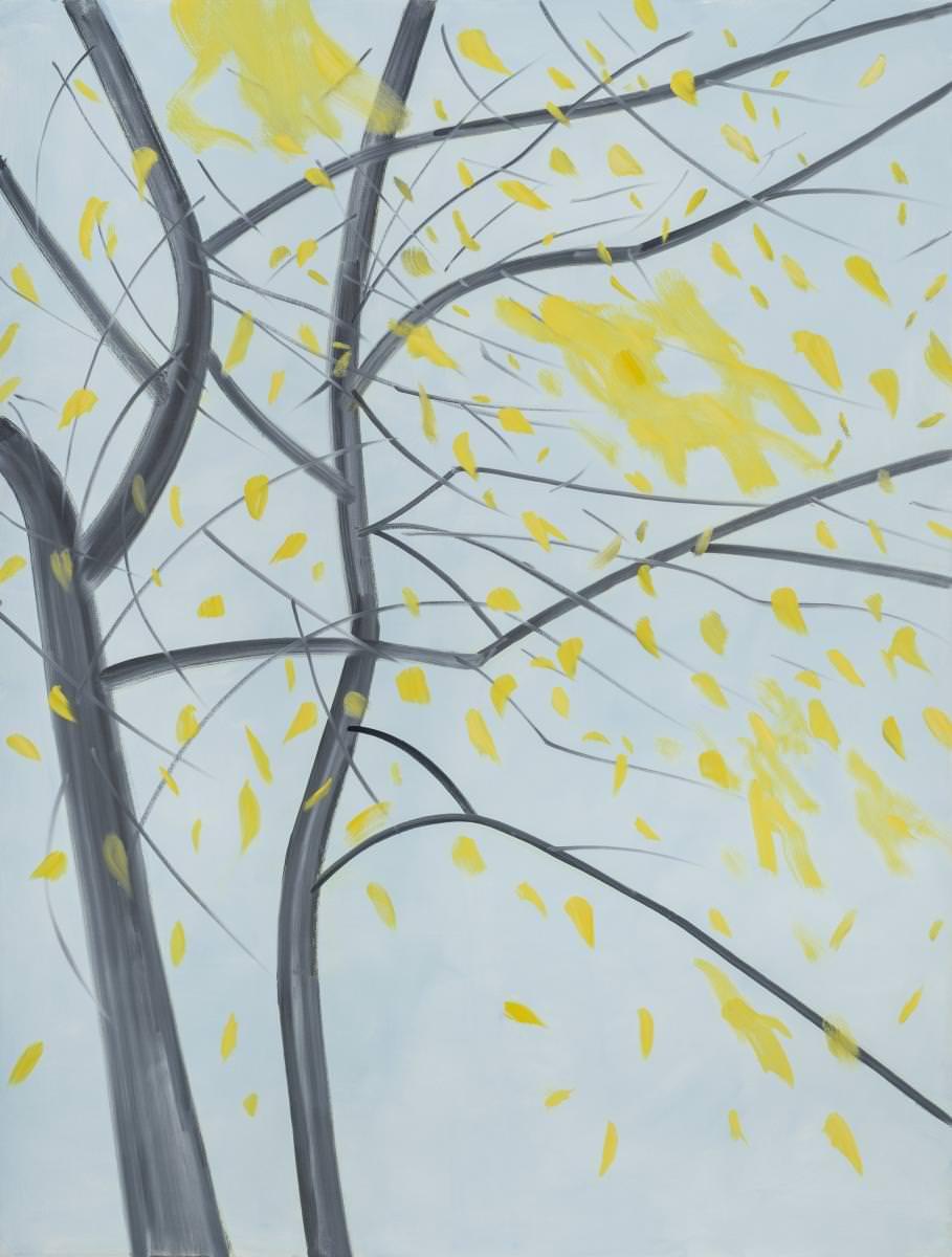 Fall(2015)d'Alex Katz. Photo : Paul Takeuchi. Courtesy Galerie Thaddaeus Ropac, Paris-Salzbourg. © Alex Katz/ADAGP Paris, 2016.