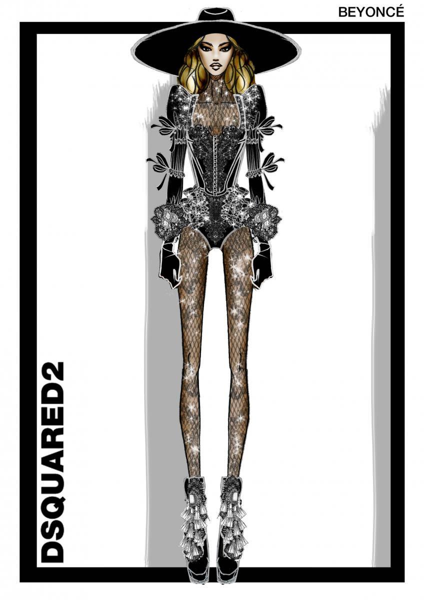 """Il y a quelques jours, Beyoncé révélait son nouvel album visuelLemonadeet annonçait une tournée mondiale jusqu'en août 2016. Habituée aux prestations scéniques impressionnantes et aux apparitions surprenantes,la reine de notre époque dévoilera, à l'occasion de cette nouvelle tournée, pléthore de looks éblouissants.  Dean et Dan Caten, les jumeaux les plus célèbres de la mode, fondateurs de l'extravagant label italienDsquared2, ont imaginé pour Queen Bey une tenue largement inspirée de leur défilé automne-hiver 2016-2017. En référence à l'époque victorienne, l'incroyable look d'ouverture du Formation Tour se compose d'un body agrémenté de dentelle à effet tatouage et de résille en cristal, d'un long manteau en soie noire balayant le sol, rehaussé de volants et de rubans en dentelle, d'un chapeau à bord large à l'allure dramatique et de gants en cuir orné de dentelle.  """"Nous sommes complètement fans de Beyoncé. Travailler avec elle pour créer ces tenues pour le Formation Tour était un challenge très excitant et un honneur. Cette tenue raconte une histoire, inspirée des motifs présents dans la collection denotre défilé, tout en permettant de visualiser les thèmes puissants de son album. C'esttrès excitant de les voir prendre vie sur scène – surtout depuis qu'elle a ouvert le show en total look Dsquared2"""", racontent Dean et Dan Caten.  Découvrez notre article sur Beyoncé. Découvrez notre article sur les sœursIbeyi aperçues dans Lemonade.  Par Léa Zetlaoui"""