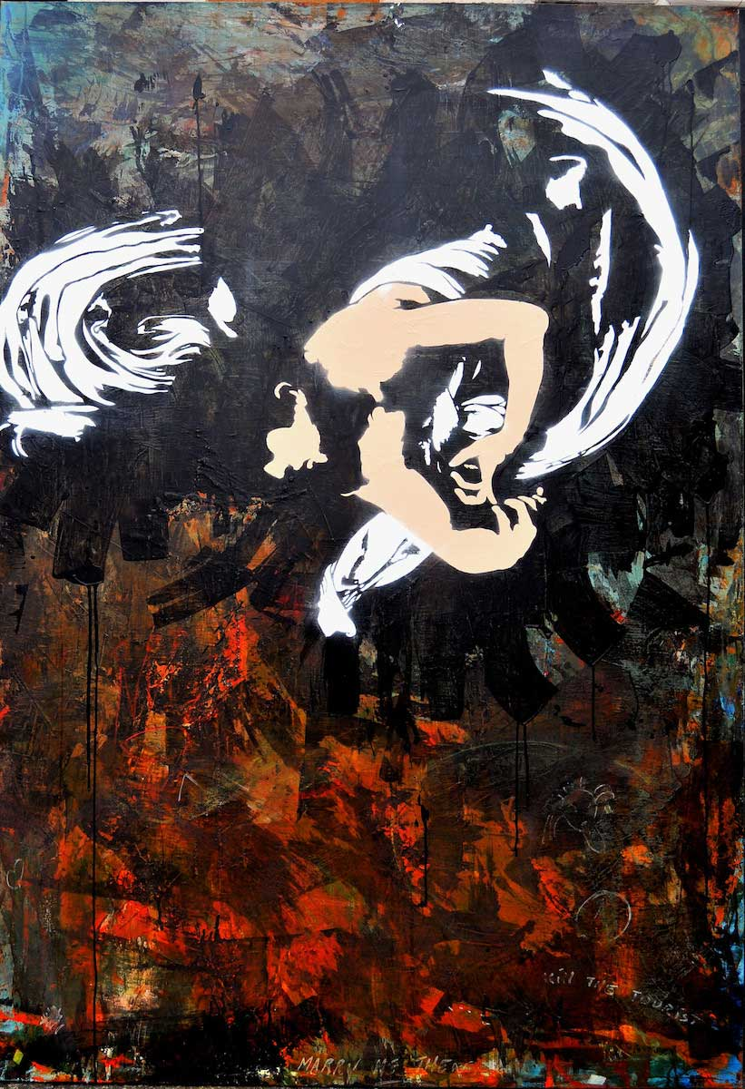 Blek Le Rat, Caravaggio (2012). Galerie Ange Basso.