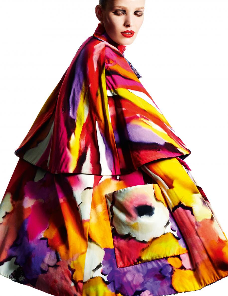 Manteau en crêpe de Chine et soie peinte, CHANEL.