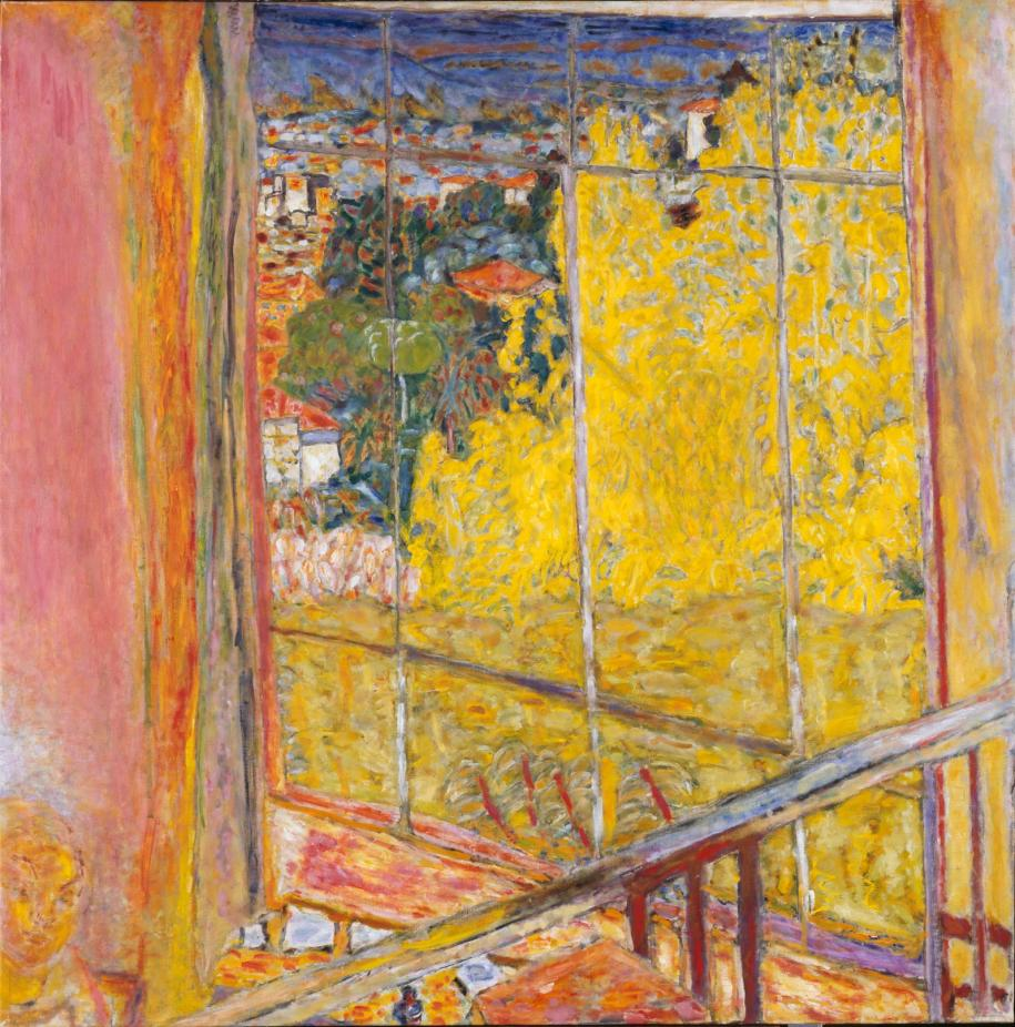 L'atelier au mimosa de Pierre Bonnard, hiver 1939/octobre 1946.  Peinture, huile sur toile, 127,5 x 127,5 cm Paris, Centre Pompidou - Musée national d'art moderne © Adagp, Paris 2016 Photo © Centre Pompidou, MNAM-CCI, Dist. RMN-Grand Palais / Philippe Migeat