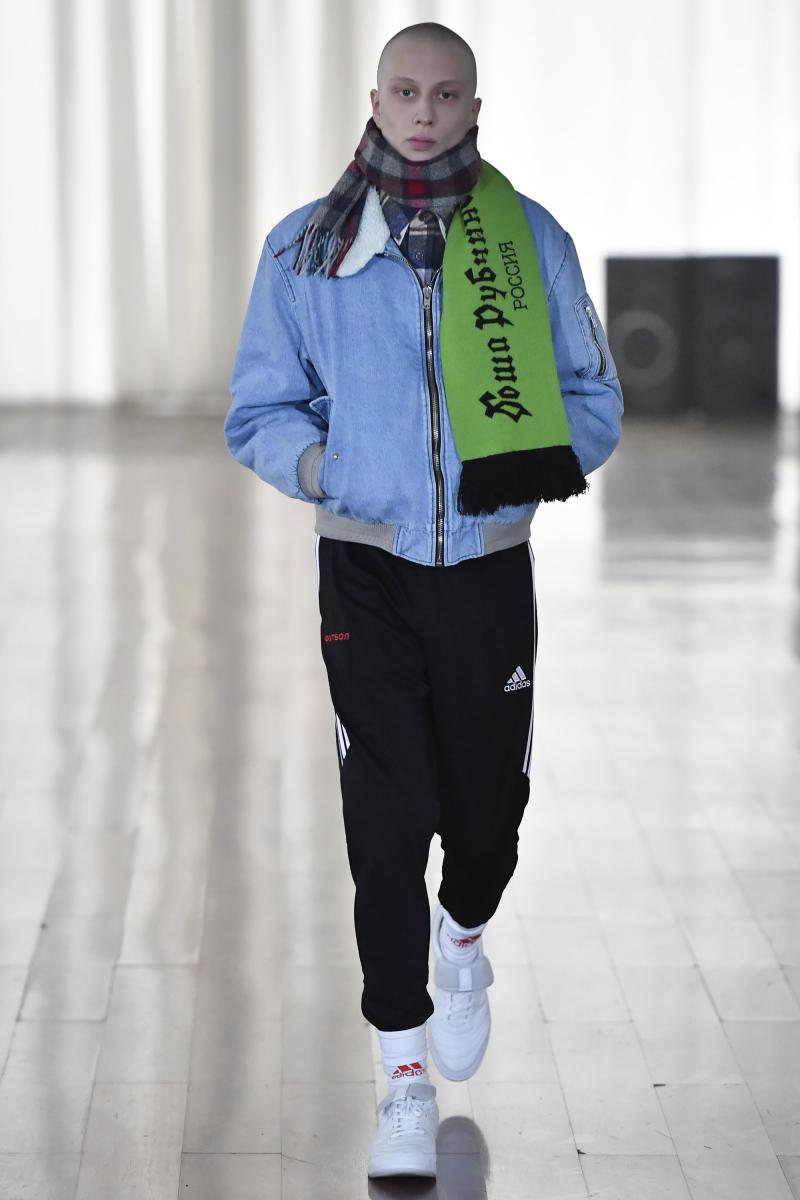 Gosha Rubchinskiy autumn-winter 2017 runway show.