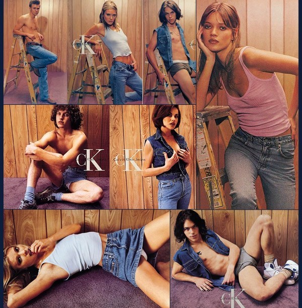 Campaign Calvin Klein shooted bySteven Meisel with Kate Moss.