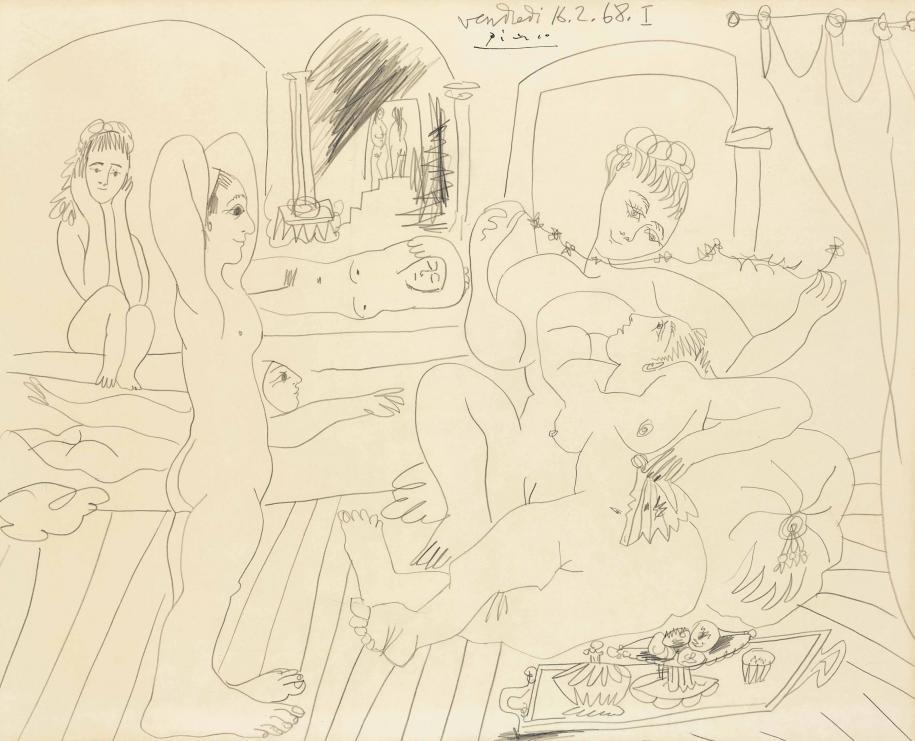 Pablo Picasso, Le bain turc,1968. Courtesy of Christie's. (Non exposé)