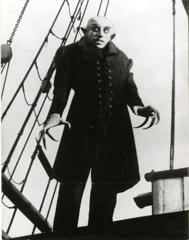 "Max Schreck dans ""Nosferatu le vampire"" (1922) de Friedrich Wilhelm Murnau"