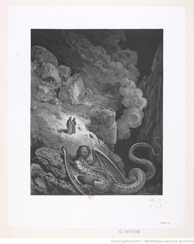 """""""L'Enferde Dante Alighieri"""" de Gustave Doré(1832-1883)"""