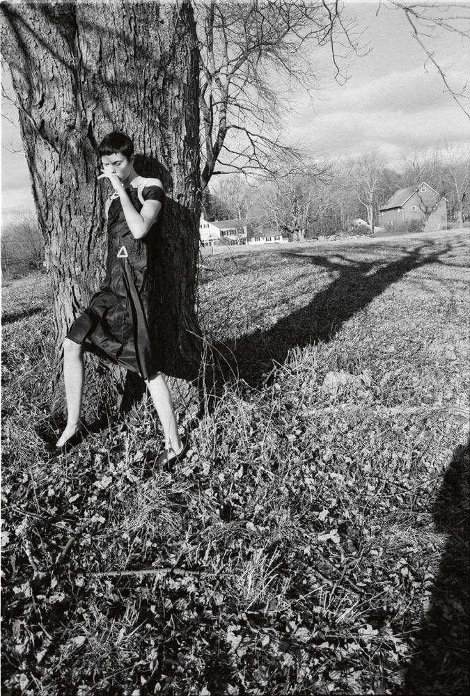 Robe en soie à harnais et débardeur en coton, CALVIN KLEIN 205W39NYC.