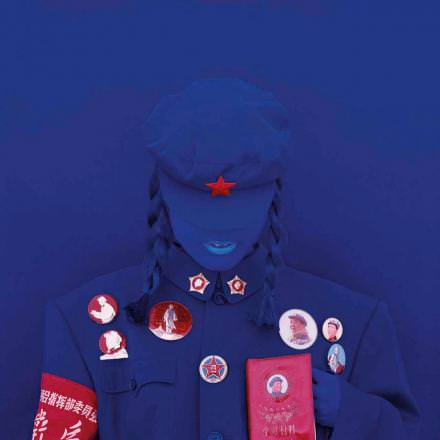 Kimiko Yoshida, The Mao Bride (Red Guard Blue holding the Little Red Book), 2010 C-print mounted on aluminium and plexiglas, 120 x 120 cm, Mariane Ibrahim.
