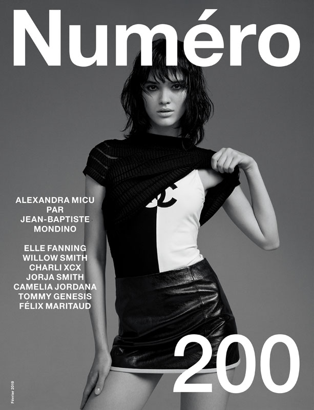 Alexandra Micu by Jean-Baptiste Mondino and Babeth Djian for Numéro 200