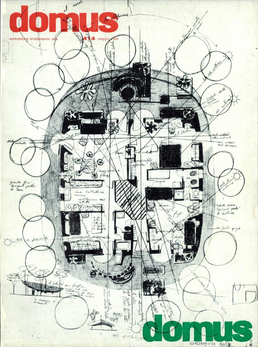 Couverture de Domus n°414, Mai 1964